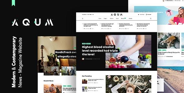 Aqum   Contemporary News and Magazine HTML Template - Retail Site Templates