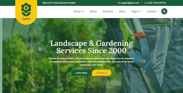 Laco - Landscape & Gardening Elementor Template Kit