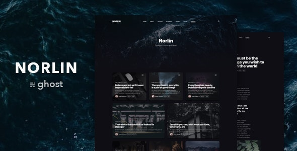 Norlin — Personal Dark Theme for Ghost - Ghost Themes Blogging