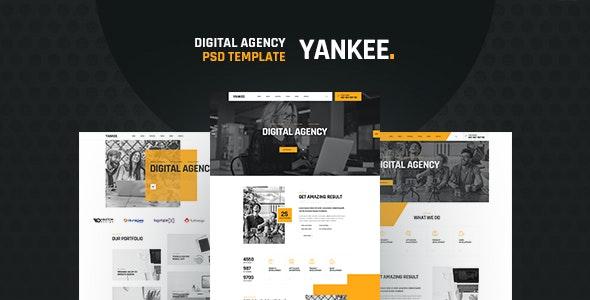 Yankee - Digital Agency PSD Template - Corporate Photoshop
