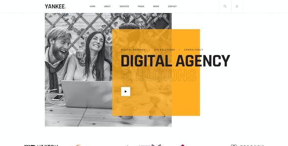 Yankee - Digital Agency PSD Template