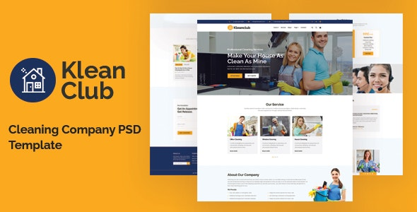 Kleanclub - Cleaning Service PSD Template - Business Corporate