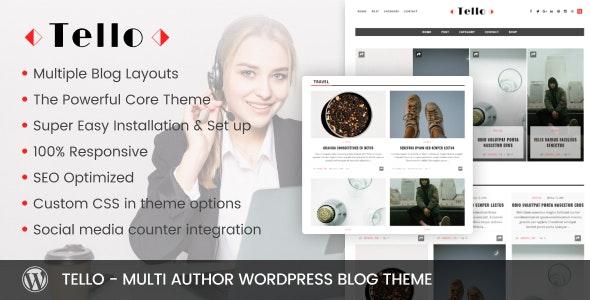 Tello - Multi Author WordPress Blog Theme - News / Editorial Blog / Magazine