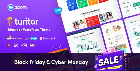 Turitor - LMS & Education WordPress Theme - Education WordPress