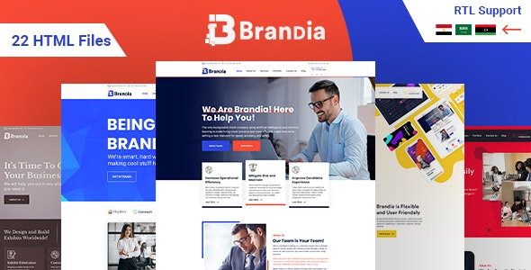 Brandia- Next Generation Business HTML template with RTL Support - Business Corporate