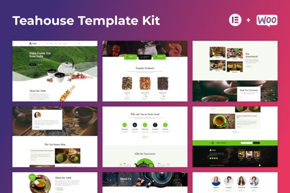 Tabit — Teahouse & Tea Store Elementor Template Kit - Food & Drink Elementor