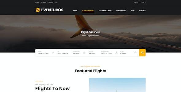 Eventuros - Multipurpose Travel Booking PSD Template