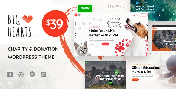 BigHearts - Charity & Donation WordPress Theme - Charity Nonprofit