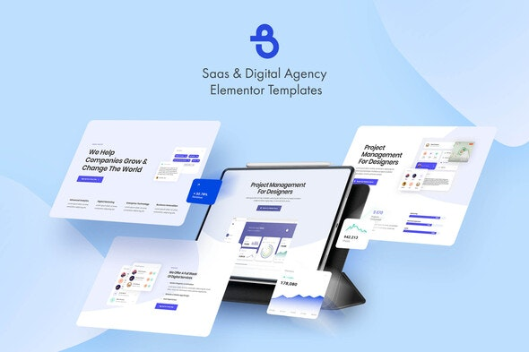 Burto - Saas & Digital Agency Elementor Template Kit - Creative & Design Elementor