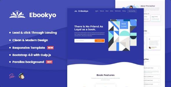 Ebookyo - Ebook HTML Landing Page Template