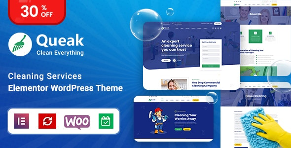Queak - Cleaning Services WordPress Theme - Business Corporate