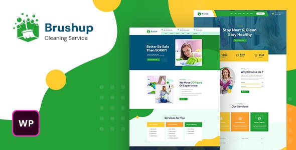 Brushup - Cleaning Service Company WordPress Theme - Business Corporate