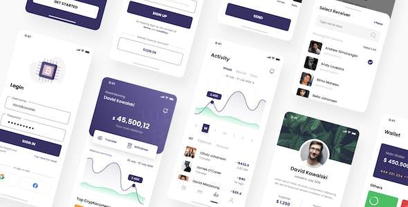 Kripton - Crypto Wallet iOS App Figma Template