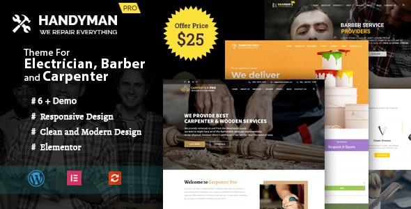 Handyman -  WordPress Theme for Electrician, Barber, Carpenter Services - Corporate WordPress