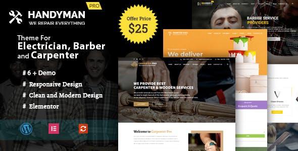 Handyman -  WordPress Theme for Electrician, Barber, Carpenter Services