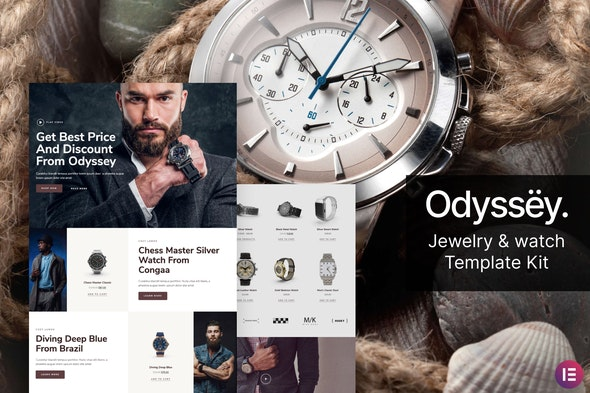 Odyssey – Jewelry & Watch WooCommerce Template Kit - Shopping & eCommerce Elementor