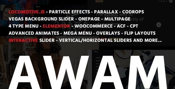 Awam - Creative Portfolio & Agency WordPress Theme - Portfolio Creative