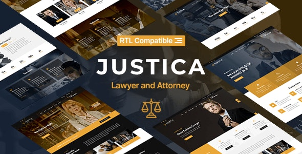 Justica - Lawyer, Attorney and Law Firms Website Template - Business Corporate