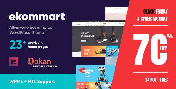 ekommart - All-in-one eCommerce WordPress Theme - WooCommerce eCommerce