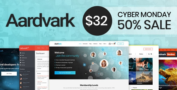 Aardvark - Community, Membership, BuddyPress Theme - BuddyPress WordPress