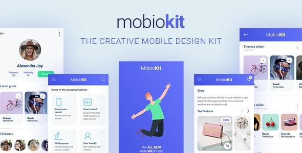 Mobiokit - HTML Mobile UI Kit - Mobile Site Templates
