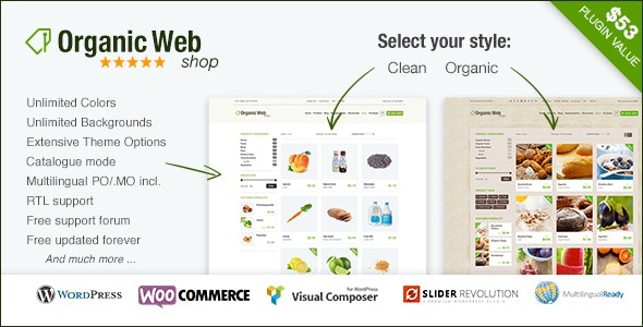 Organic Web Shop - The WooCommerce Eco Theme - WooCommerce eCommerce