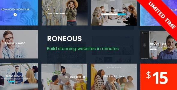 Roneous - Creative Multi-Purpose WordPress Theme - Creative WordPress