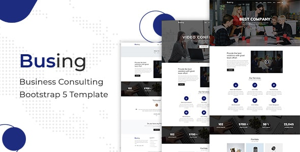 Busing Business Consulting Bootstrap 5 Template