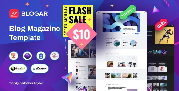 Blogar - Blog Magazine Template - Creative Site Templates