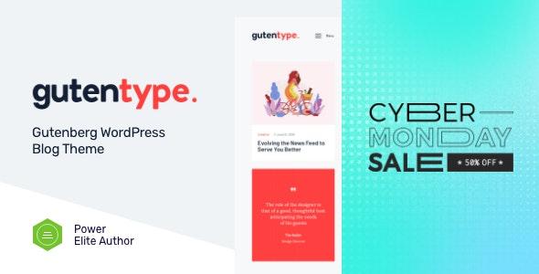 Gutentype   100% Gutenberg WordPress Theme for Modern Blog + Elementor - Personal Blog / Magazine