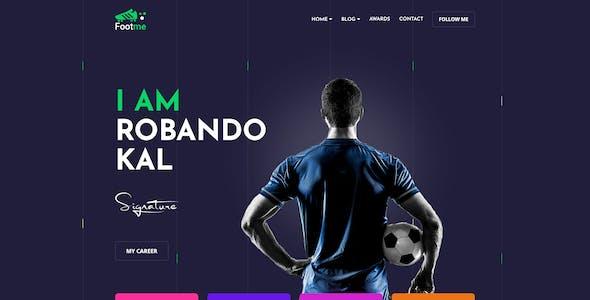 Footme - Football Player Portfolio HTML Templates