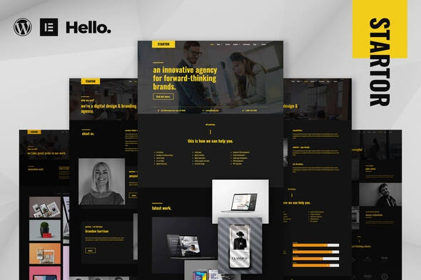 STARTOR - Agency & Company Elementor Template Kit - Business & Services Elementor