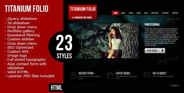 Titanium Folio - Portfolio Creative