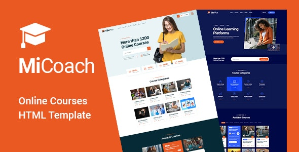 MiCoach - Online Courses HTML5 Template - Business Corporate