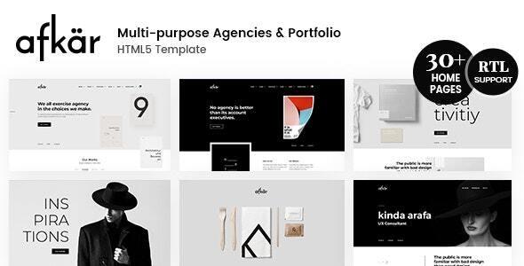 Afkar- Creative Multi-Purpose HTML Theme - Creative Site Templates