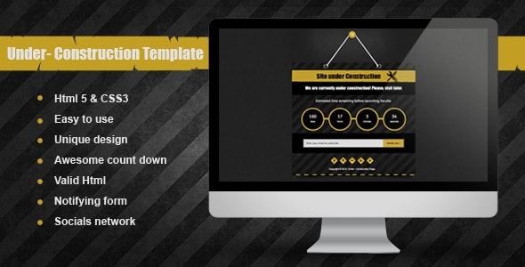 Aya - Under Construction Template - Under Construction Specialty Pages