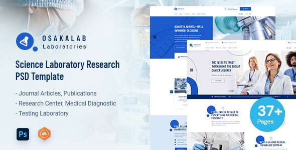 Osaka Lab - Science Laboratory Research PSD Template - Business Corporate