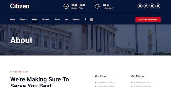 Citizen – City Government & Municipal Elementor Kit