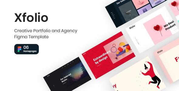 Xfolio - Creative Portfolio and Agency Figma Template - Portfolio Creative