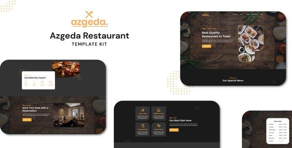 Azgeda - Retaurant Elementor Template Kit