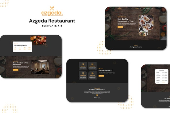 Azgeda - Retaurant Elementor Template Kit - Food & Drink Elementor
