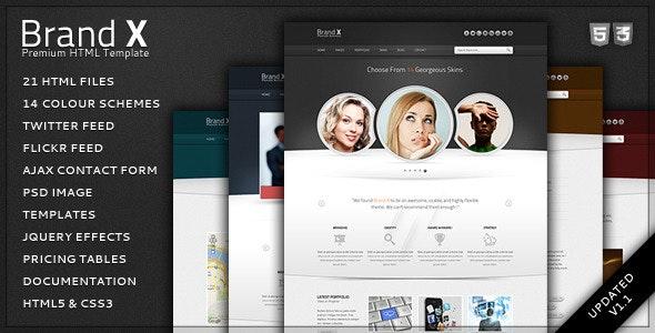Brand X - Premium HTML Template - Creative Site Templates