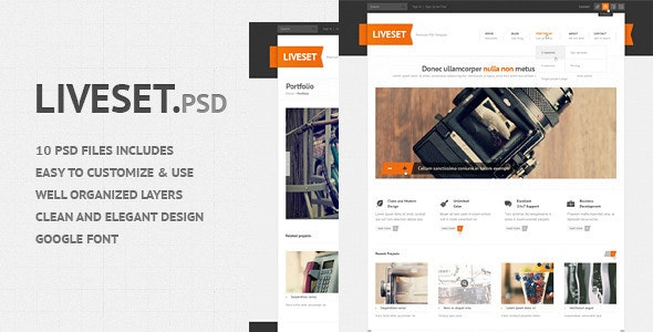 Liveset - Modern and Clean PSD Theme - Corporate Photoshop