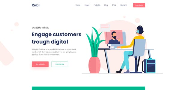 Rexil- One Page PSD Template