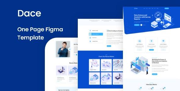 Dace - One Page Figma Template - Technology Figma