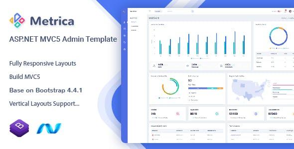 Metrica - ASP.NET MVC5 Admin & Dashboard Template