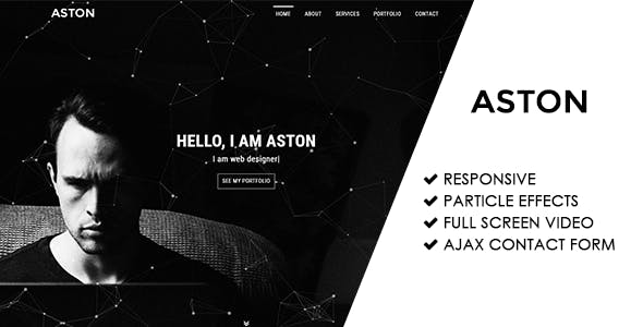 Aston   Responsive Personal Portfolio Template