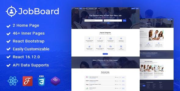 Job Board - Job Board React Template - Business Corporate