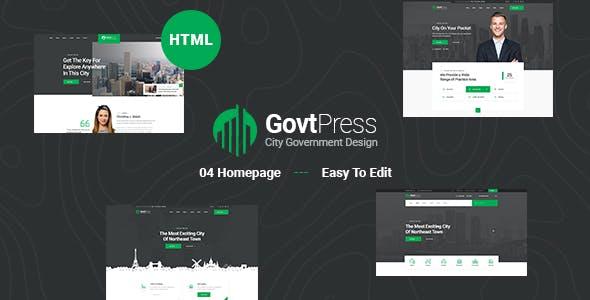 GovtPress - Municipal and Government HTML5 Template
