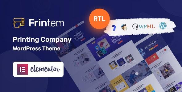 Frintem  - Printing Company WordPress Theme - Business Corporate